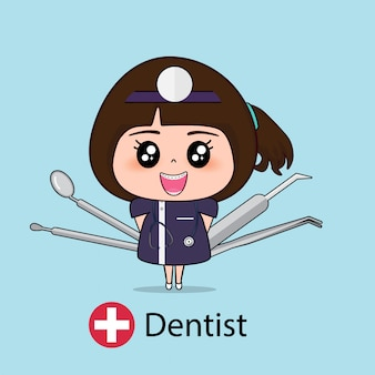 Dentist cartoon character