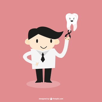 Dentist character with a tooth
