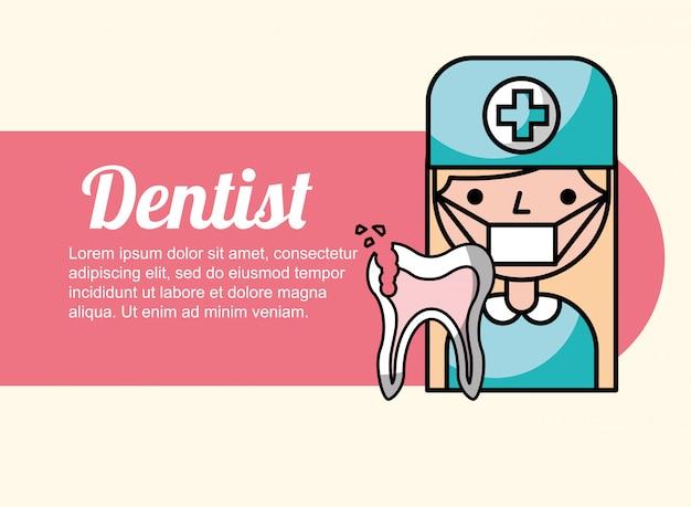 Dentist girl broken tooth