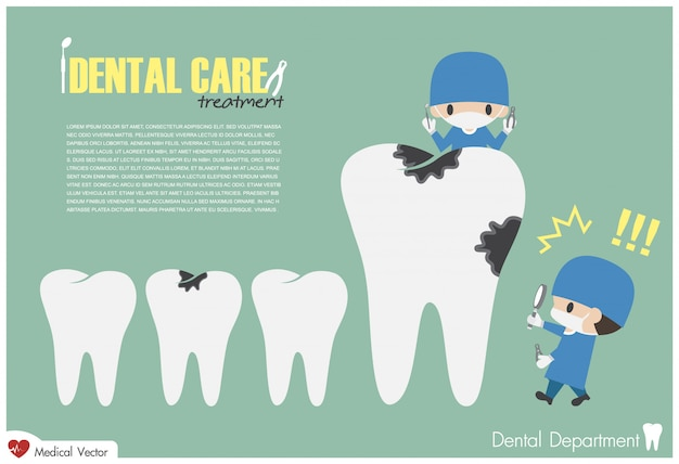 Dentist hold magnifying glass and look for dental caries