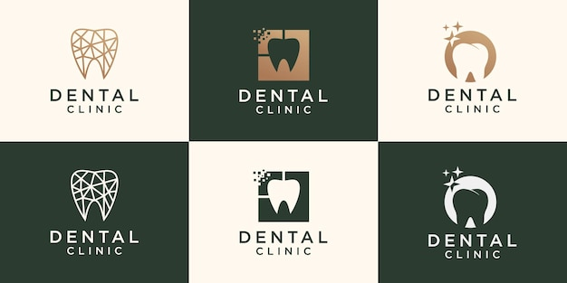치과 의사 로고 템플릿