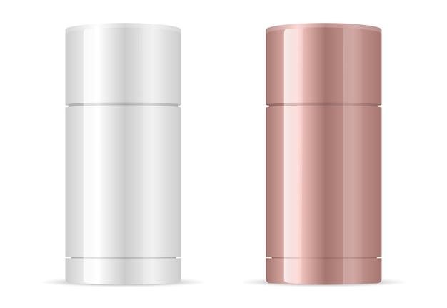Deodorant antiperspirant stick packaging mockup.