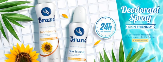 Deodorant spray banner ads