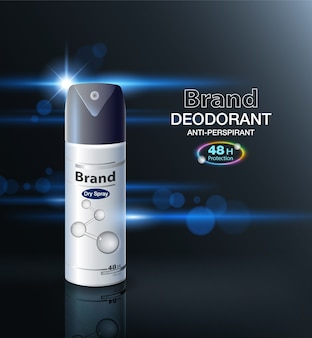 Deodorant spray packaging can protect up to 48 hours
