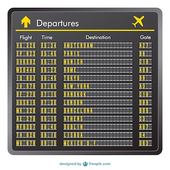 Departure board vector
