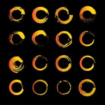 太陽の輪を描いています。モダンスタイリングサンコレクション