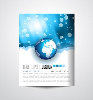 Флаер дизайн или depliant cover для деловых целей.
