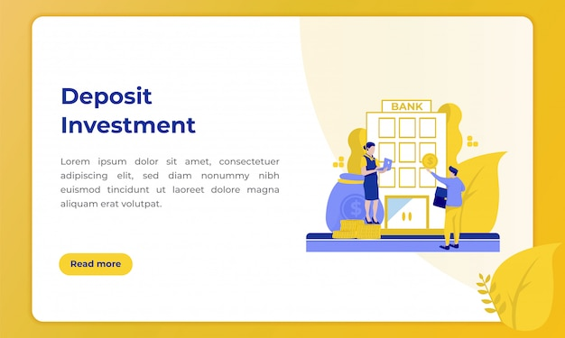 Deposit investment, illustration with the theme of the banking industry