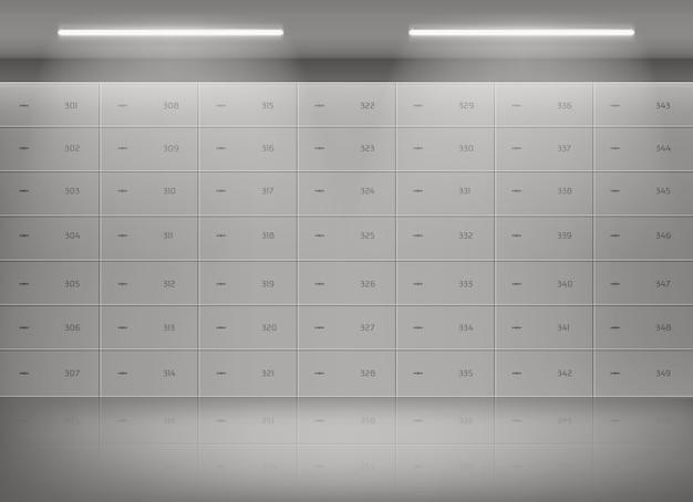 Депозитные сейфы в банковском хранилище