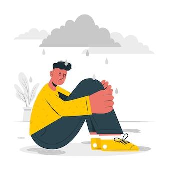Иллюстрация концепции депрессии