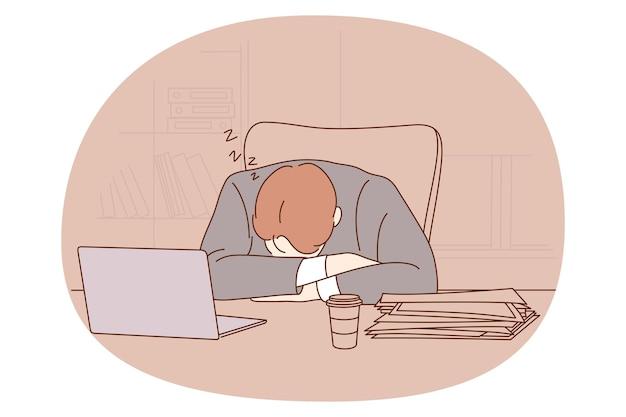 うつ病、ストレス、燃え尽き症候群の概念。