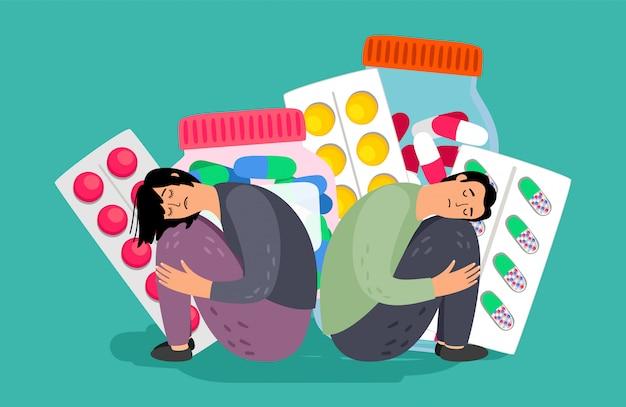 Depression treatment illustration