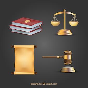 Derea y justiciaの要素を設定する