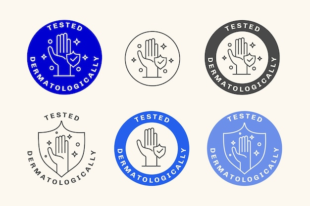 Dermatologically tested badges