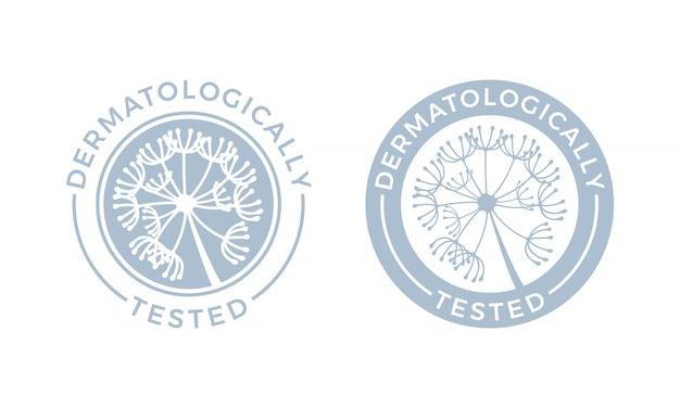 Dermatologically tested  set