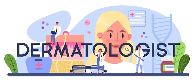 Типографский заголовок дерматолога