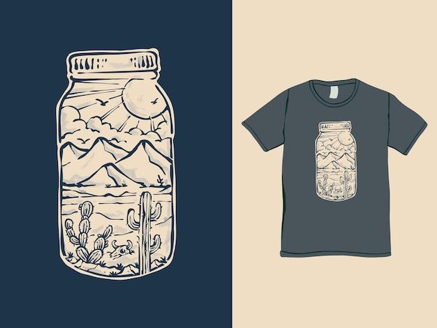 The desert adventure vintage style tshirt design