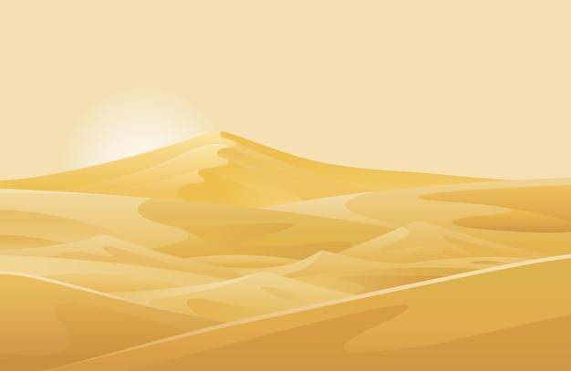 Фон пейзажа пустыни и песчаных дюн