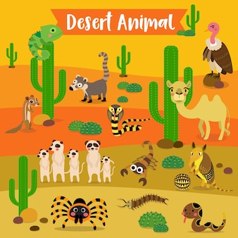 Desert animal cartoon