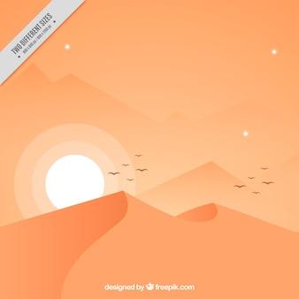Desert background at sunset
