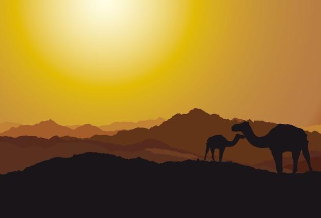 砂漠の背景のデザイン