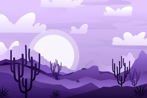 砂漠の背景ビデオ会議