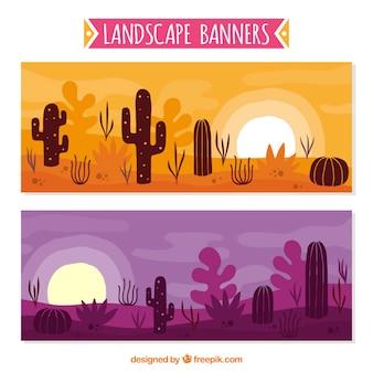 Пустыня баннеры, рисованной