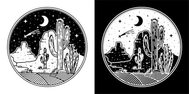 Desert circle monoline design