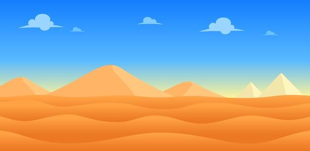 砂漠の日のゲームの背景