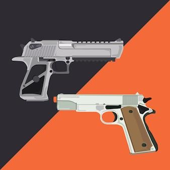 Desert eagle gun vector illustration