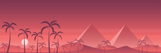 Панорамные пирамиды египта в пустыне