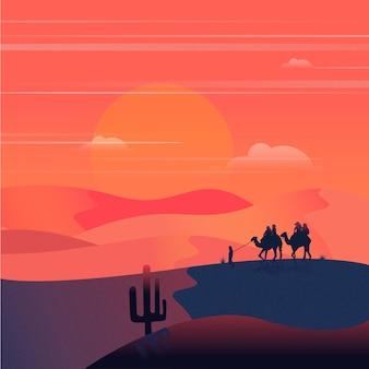 Вечер в пустыне