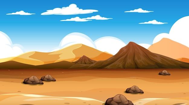 Пустынный лесной пейзаж в дневное время
