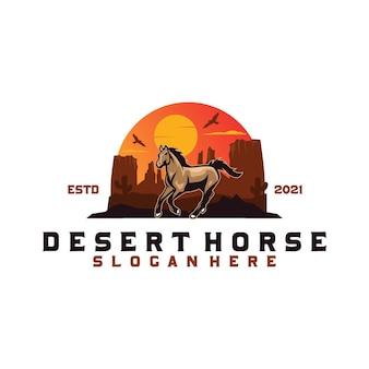 사막 말 로고