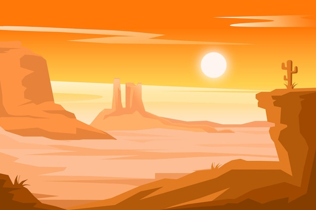 Desert landscape background concept