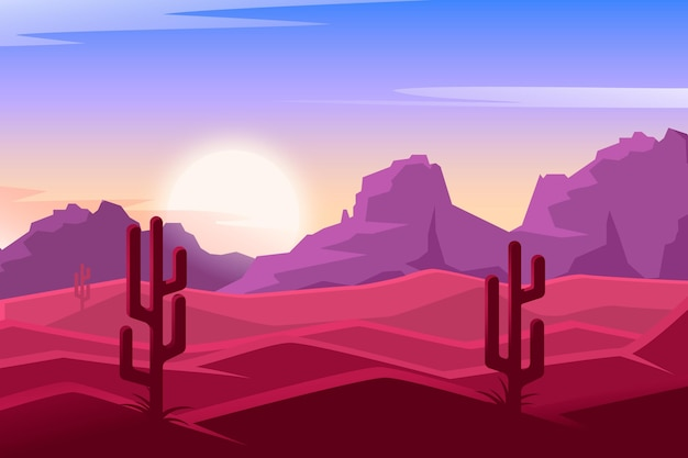 Desert landscape background design