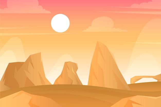 Пейзаж пустыни - фон для видеоконференцсвязи
