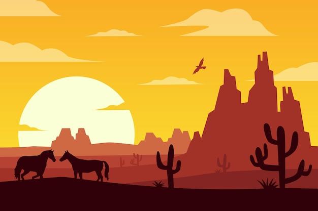ビデオ会議用の砂漠の風景の背景