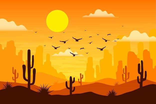 砂漠の風景-ビデオ会議の背景