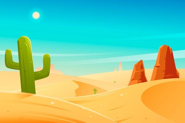사막 풍경-화상 회의 배경