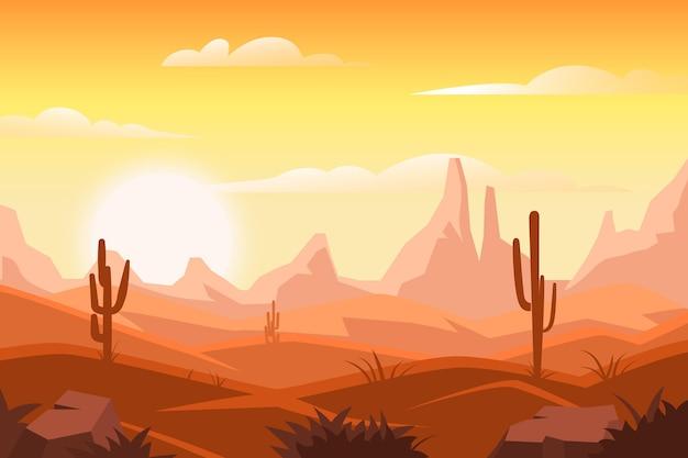 砂漠の風景の背景スタイル