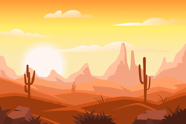 Desert landscape background style