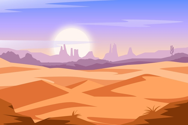 Desert landscape background theme
