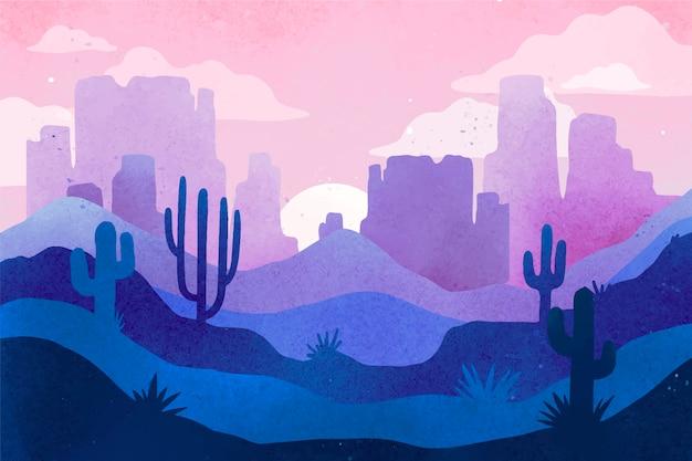 Sfondo del paesaggio desertico per videoconferenze