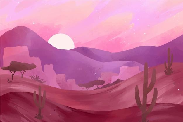 Desert landscape background for video conferencing