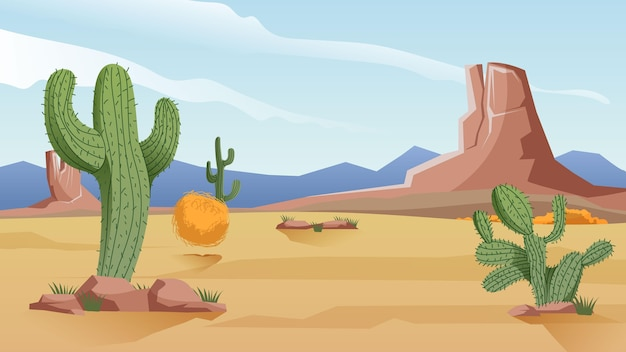 Desert landscape - background for video conferencing