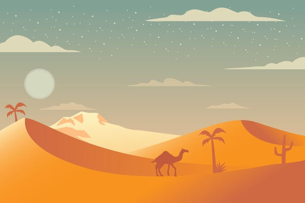 Desert landscape background for video conferencing