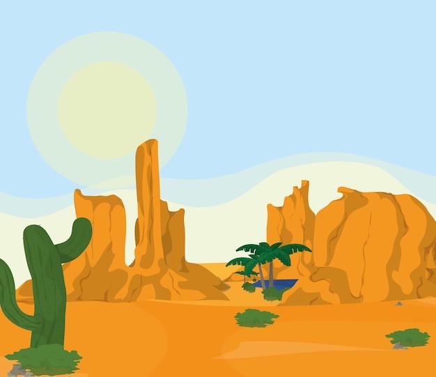 砂漠の風景の漫画