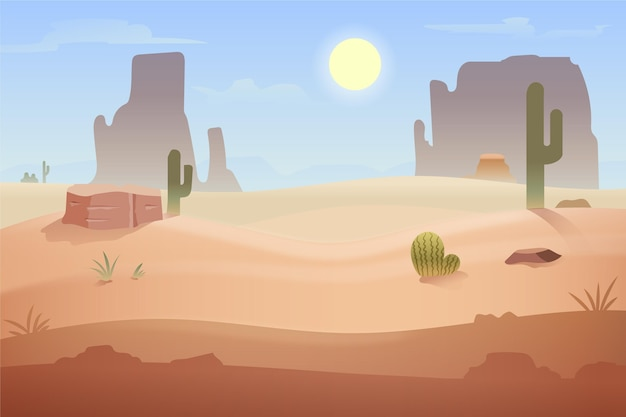 화상 회의를위한 사막 풍경