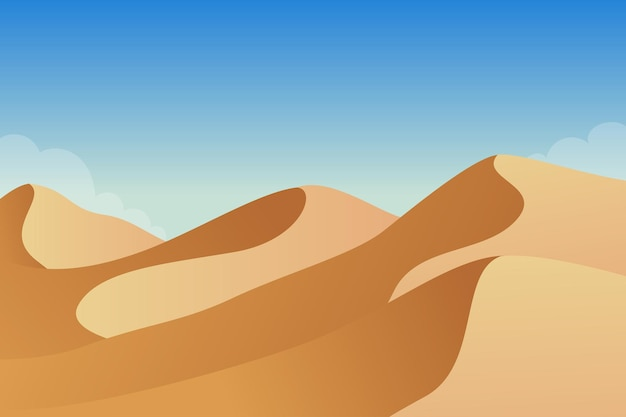 砂漠の風景イラスト